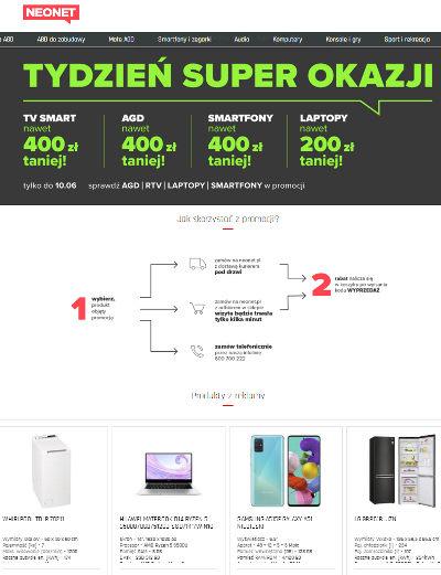 Promocja internetowa Neonet