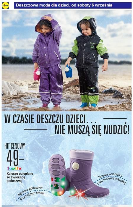Lidl Moda deszczowa dla dzieci