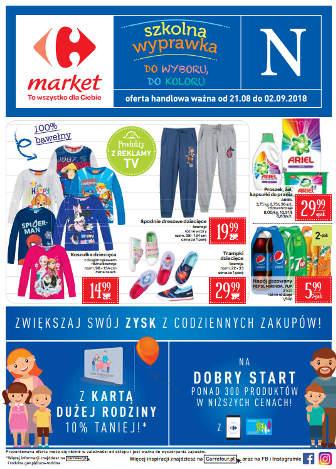 Carrefour Market Gazetka promocyjna od 21.08.2018